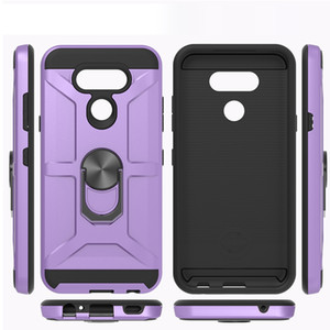 For Samsung Galaxy S10 plus s10e LG Stylo5 Metal Holder Phone Case Shockproof Robot Design Stand