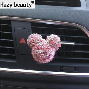 Hazy beleza O novo diamante encantador perfume urso Car, elegante ambientador Car-styling Ornament Car z3BD #