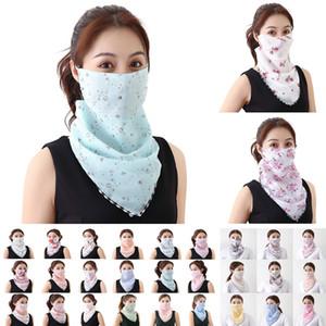Женщины шарф маска шифон Handkerchief ветрозащитного Половина лицо пыленепроницаемая Маска Dust маска партия маска W-00117