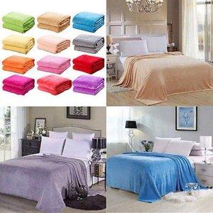 New Super Soft Warm Flannel Wool Blanket Solid Warm Micro Plush Fleece Blanket Pet Throw Rug Sofa Bedding Cover