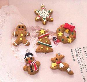Mini Gingerbread Man Christmas Ornaments Deer Snowman Chrismas Tree Pendant Decoration New Year Decor Party Supplies