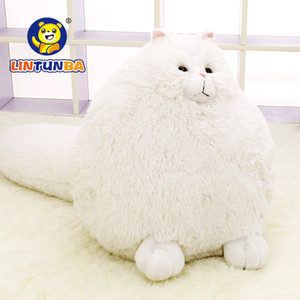 Fun Plush Fluffy Cats Persian Cat Toys Pembroke Pillow Soft Stuffed Animal Peluches Dolls Baby Kids Toys Gifts Brinquedos MX200716