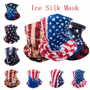 American Flag Sports Masks Magic Scarf Head band Outdoor Neck Warmer Cycling Bike Bicycle Riding Face Mask Head Scarf Scarves IIA129