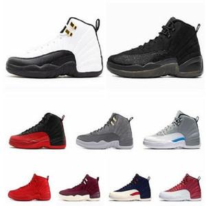 Libre Calcetines Alto Qaulity Nuevo Nuevos 12s CNY chinas del Año Nuevo Hombre Basketball Zapatos niños Jumpman 12 CNY Blanco Negro Oro Deportes zapatillas de deporte