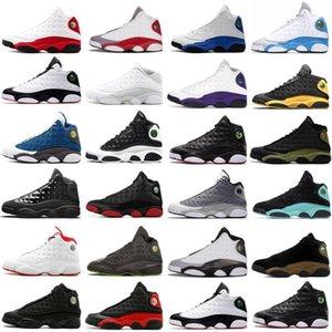 designer shoes 2020 New Arrival 13s Men Retro Basketball Shoes Class Nakeskin13 Barons DMP White Luxury SneakersdKKz#
