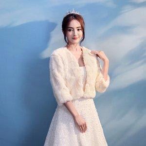 New bride shawl winter New bride shawl Warm wedding dress Coat wedding dress warm coat winter
