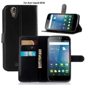 Litchi caso della copertura del cuoio di lychee portafoglio con supporto di carta per Acer Liquid Z630 Z530 Z520 Z6 Jade 2 5.5inch