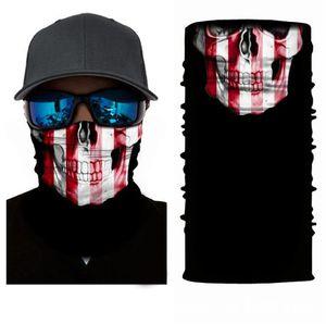 Хэллоуин Скелет шарф велосипеда Спорт Ветер мужской шарф Повседневный Красочные Длинные Смешной костюм аксессуары