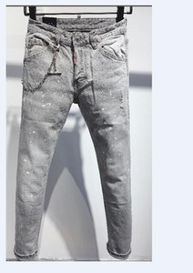 New Arrival Winter Mens Designer Jeans off Style High Street Letter Jeans Quality Fashion Classic Designer Mens Pant Top Quality 8892