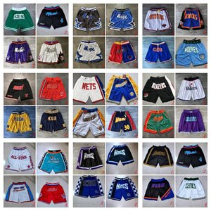 Retro Just Don Pocket Shorts Authentic Stitched Sweatpants All City Team Throwback Basketball Shorts Orlando
