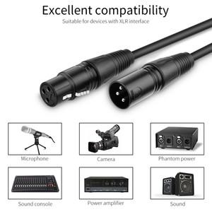 XLR professionnel fil mâle à femelle de scène de fil Câble audio Câble scène éclairage DMX512 signal noir Câble