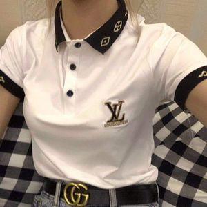 2019 femmes Designer T-shirt imprimé Lettre à manches courtes pour l'été Noir Blanc Marque Respirant T-shirts Taille asiatique