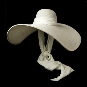 Women White 25cm OVERSIZED Sun Hat Soft Silk Ribbon Tie Wide Brim Floppy Hat Giant Beach Straw Summer Kuntucky Derby Hat Cap CX200714