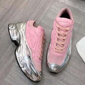 Sneaekers Raf Simons oversize Sneaker Ozweego uomini scarpe donne scarpe casual in effetti argento metallizzato Sole Sport Trainer KK1