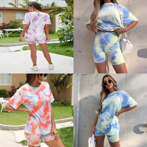 Solid Scarf Collar Sleeveless T Shirt 2 1Pcss Set Crop Top Tight Shorts Tracksuit Casual Breathable Summer Daily Suit#353
