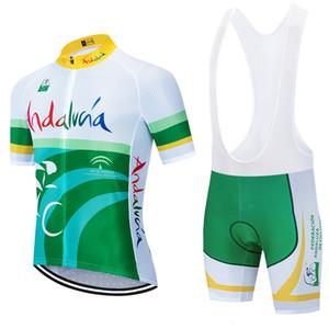 2021 Une nouvelle équipe cycliste andalucia jersey 20D short vélo mis Ropa Ciclismo MENS VTT été PRO habillement bas BICYCLETTE Maillot