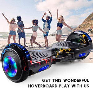 Smart-Rad Hoverboard Skateboard Bluetooth Selbst Balancing Scooter Flash-Räder 2 Räder Selbst Balancing Scooter Dropship