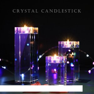Multisize Home Decorations Candlestick Wedding Idea K9 Crystal Scented Candle Holders Table Centerpieces Bar Coffee Shop Decor Votive Holder