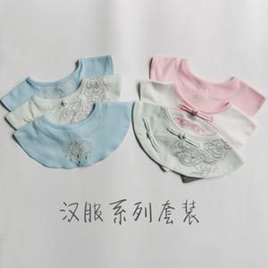 새로운 면화 제품 중국어 의류 남자와 턱받이 침 수건 여성의 아기 침 수건 모델 가짜 칼라 자수 아기 턱받이