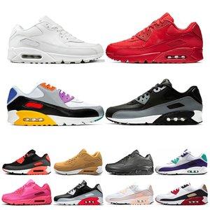 Nike air max 90  Кроссовки мужские инфракрасные International Flag Pack тройной белый черный ESSENTIAL Laser Pink Bred женские спортивные кроссовки кроссовки размер 36-45