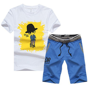 Men's Tracksuit Summer Clothes Sportswear Two Piece Set T Shirt Shorts High Quality Track Clothing Male Sweatsuit Sports Suits Hot Sale