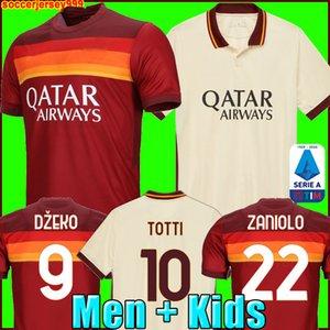 As roma soccer jersey football shirt Como camiseta de fútbol roma DZEKO PEROTTI PASTORE ZANIOLO 2020 2021 TOTTI chandal 20 21 camisetas de fútbol uniformes DE ROSSI maillot de foot