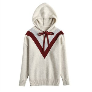 Designer women fashion Women's Knits & Tees New cashmere sweater women autumn and winter hooded sweatshirts 4 color size S-XL