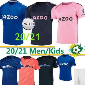 20 21 maillot de football Everton SIGURDSSON RICHARLISON CALVERT-LEWIN WALCOTT 2020 2021 Everton maison de football Chemises hommes uniformes kit enfants THAI