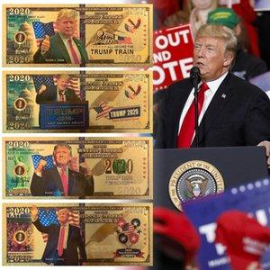 Trump 2020 Speech Sammlung Münze US-Wahl liefert Gold-Banknote Goldfolie Gedenkmünze Kreative Münze