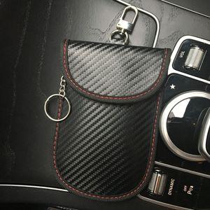 New carbon fiber RFID car remote control shield case anti-theft anti-degaussing anti-scanning New carbon fiber key car key