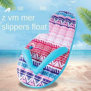 Надувных игрушки Ins вода флип-флоп тапочек Надувной ряда елочки тапочки плавучей кровать реклама серфинг плавающей строку