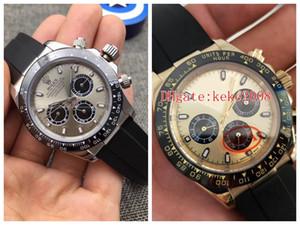 2 couleurs excellentes bracelets de bonne qualité 116518 116519 Strap en caoutchouc gris Non Chronographe 2813 Mouvement Mens automatique Montres Hommes Montres