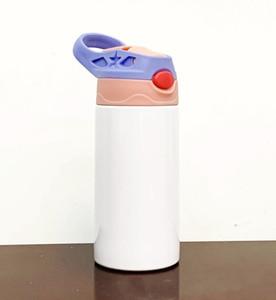 5 estilos 12 oz niños Sippy Taza de calor Transferencia de calor Acero inoxidable Aislado Niños Botella de agua Taza portátil Taza portátil