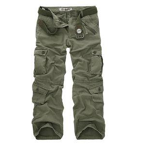 Günstige Fracht Cotton Cargo Pants Männer Military Stil Tactical Training gerade Männer Hose-beiläufige Tarnung Mann Hosen