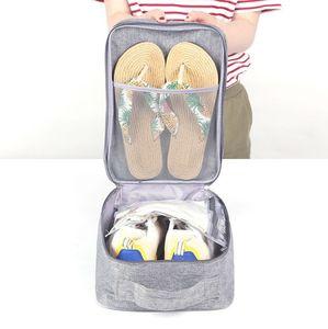 Корейский стиль Путешествие Водонепроницаемых обуви Сумка для обуви Box пылезащитного Портативного Shoes носков Sub-пакет для хранения сумка Отделки сумки сухой и мокрой Separation