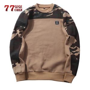 Tactical camuffamento QIQICHEN Uomo pullover 2020 Primavera Autunno unisex casuale dei pullover maschile Felpa con cappuccio UE taglia XXL hombre