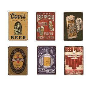 Cold Beer Fridge Cheers Vintage Metal Plate Home Garage Garden Bar Pub Cafe Decorative Wall Art Poster Tin Sign Retro 20x30cm Friendship