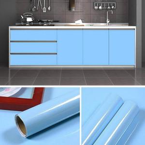 Caliente impermeable a prueba de aceite auto adhesivo del papel pintado de la película pegatinas de pared Baño dormitorio armario de la cocina Home Improvement