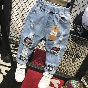 roupa elegante 2020 Primavera e Outono novas infantil versátil do coreano e as crianças usam Jeans Jeans C12019