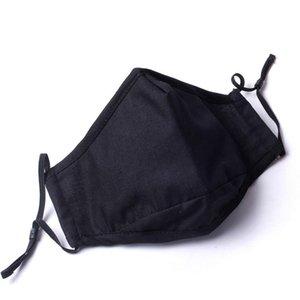máscara de algodão sem a válvula de pura moda cor solide lavável máscara 4 cores oferecer escolher DHL rápido navio máscara facial lavável