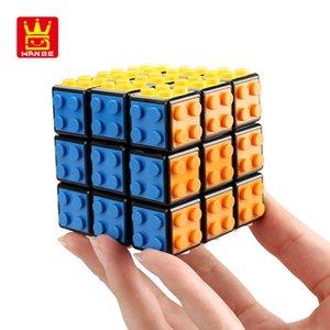 2020 das neue Design eines einzigartigen meistverkauften Sechs Farben Würfel Rubik Kinderspielzeug Würfel Puzzle rubiks dritte Ordnung Blöcke