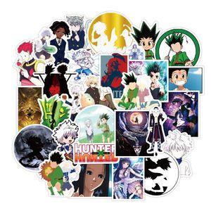 50pcs / set nuevos Hunter × Hunter animado pegatinas impermeables para la caja DIY del teléfono portátil PC Etiqueta de equipaje