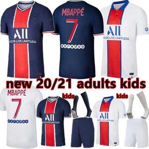Les kits hommes de football 20 21 maillot de football 2020 2021 MBAPPE ICARDI chemise hommes JR neymar enfants ensembles hommes uniforme enfants maillot de football