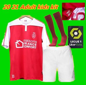 Adultes enfants Kit 20 21 Stade maillots de football Reims maison loin Disasi Cafaro 24 KONAN DIA Foket CHAVALERIN Zeneli 2020 2021 jerse