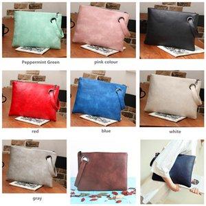 Fashion Women Clutch Bags Vintage PU Handbag Large Capacity Envelope Bag Outdoor Travel Handbags Shoulder Bags Female Clutches New Purse