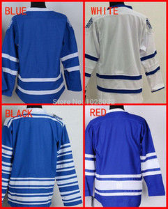 Cheap Wholesale Authentic Men's Ice Blank Hockey Jersey Toronto White Blue 3rd Winter Classic,Embroidery Logo,S~XXXL,Mix Order