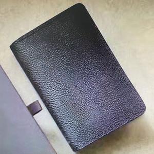 M60502 N63145 주최자 포켓 지갑 카드 홀더 모노 가죽 컴팩트 Bifold 짧은 남자 Pochette 지갑 비즈니스 신용 카드 클립