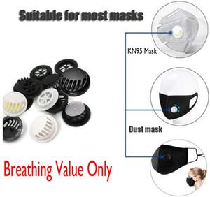 Masque gros respiration Valve pour le masque de bricolage Accessoires Homemaking échappement One-Way Masque Vannes en noir et blanc FY9144