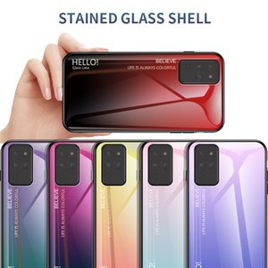 Suitable for Samsung Galaxy note20plus mobile phone protective cover note20 new anti-fall gradient glass designer phone case
