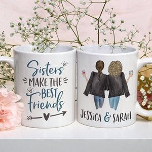 Personalized Sisters Make the Best Friends Mug Cute Sisters Mug Personalized Names Sisters Mug Gift for Sister T200506